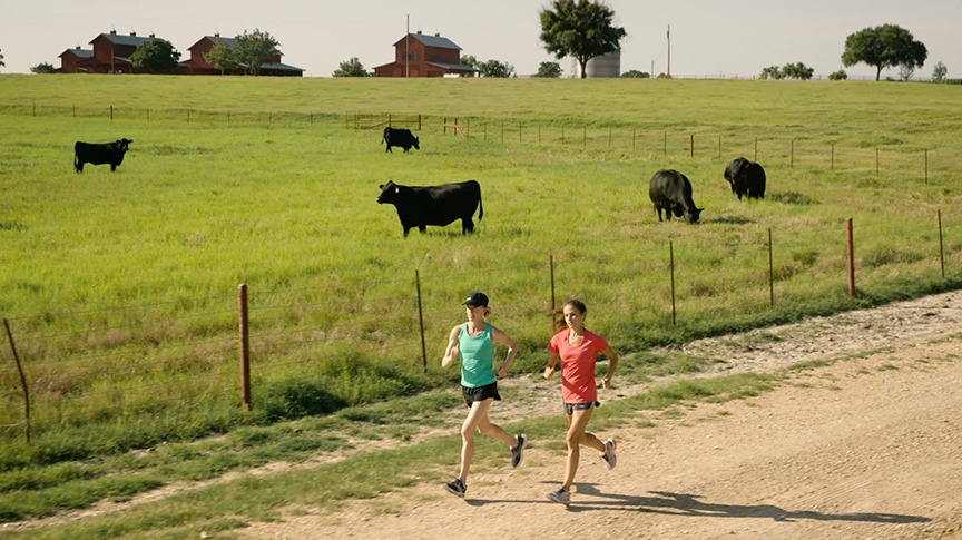 44 Farms Brand Ambassadors Deena Kastor and Becky Wade